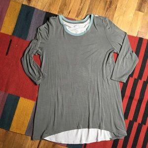 LOGO Colorblock Tunic Top Sz Large